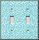 Switch Plates And Outlet Covers - Vintage Rosette - Blue Rose - Home Decor