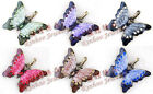Fashion Jewelry Women Stylish Crystal Necklace Butterfly Pendant Sweater Gift
