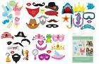 10PC PHOTO BOOTH PARTY PROPS PROP ON STICK WEDDING BIRTHDAY FUN FANCY DRESS UP