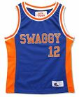 JUSTIN BIEBER SWAGGY BLUE & ORANGE BASKETBALL JERSEY SHIRT NEW NWT YOUTH KIDS