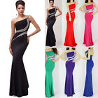 RED Plus Size BEADED Long Bridesmaid Dress Evening Prom Formal Party Gowns Dress