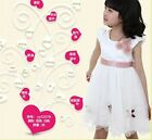 White/Pink 1x Girls Children Fashion Summer Tulle Skirt Princess Tutu Dress - CB