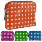 NEW Ladies Polka Dot Leather Coin PURSE/WALLET By Golunski Graffiti Credit Card