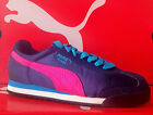 PUMA ROMA SATIN ZEBRA-Womens Casual New Shoes-Dark Shadow/Rose/Blue-355248 08