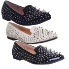 11240 Salt & Pepper Goth Punk Nicci Womens Slip On Studd Spike Shoes
