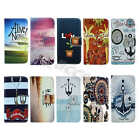 For Samsung Synthetic Leather Vintage ID Card Holder Media Stand Case Cover #A01