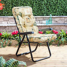 Alfresia Garden Recliner Chair with Luxury Cushion (Black Frame)