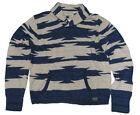 $185 Polo Ralph Lauren Denim & Supply Mens Shawl Linen Silk Southwest Sweater