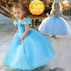 Cinderella Classic Princess Cosplay Costume Kids Girls Childs Party Fancy Dress