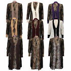 Ladies Cardigan Womens Mesh Floral Leopard Animal Print Open Front Summer Party