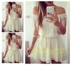 Hot Style Women Summer Sexy Lace Chiffon Evening Party Cocktail Short Mini Dress