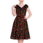 Hell Bunny Rockabilly Cherry Pop 50s Dress Sizes 8 - 16