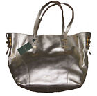 $298 Polo Ralph Lauren Womens Leather Metallic Gold Purse Tote Shoulder Bag New