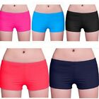 Pop Women's Plain Swim Shorts Bikini Swimwear Boy Style Short Brief Bottoms - CB