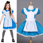 Kid Girl 2-7 Y Fairytale Story Alice Fancy Cosplay Dress Skirt One-piece Costume