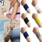 1 New Unisex Sweatbands Cotton Wrist Sweat For Band Sports/Yoga/Workout/Running