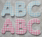GINGHAM CARD x3 Alphabets x78 Letter Die Cuts Personalise Baby Girl Boy Names