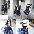 Vntage Kids Children Clothing Polka Dot Girl Chiffon Sundress Dress Cuddly - CB