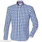 FRONT ROW MENS LONG SLEEVED CHECKED COTTON SHIRT