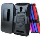 For Alcatel One Touch Pop Mega LTE A995G Rugged Hybrid Case Belt Clip Holster