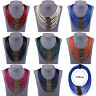 New Fashion Wild Statement Choker Chain Leather Pendant Necklace Jewelry Party