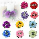 Floral Candle Ring Wedding Centerpieces Silk Roses Flowers Party Home Decoration
