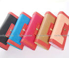 1PC Mixed Color Bow Jewel Elegant Women Long Wallet Card Holder Coin Bag Purse
