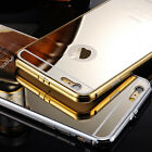 New Luxury Aluminum Metal Mirror Back Case Cover For iPhone 5 5S 6 6+ Plus 5.5