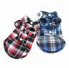 Pet Clothing Dog/Cat Designer Classy Plaid Shirt Size XS to L 3 Colors Available