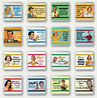 New, Quality Drinks Coasters - FUNNY RETRO STYLE Alcohol, Beer Theme - you pick