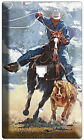 WESTERN COWBOYS RIDING HORSES ROPING CALF LIGHT SWITCH OUTLET COVER WALL PLATE