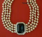 Euc KJL KENNETH JAY LANE Princess Wales Diana Sapphire Pearl 4 Strand Necklace