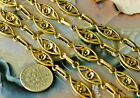 Necklace chain Bracelet chain Fancy Metal Chain Antique Gold j04 1ft PICK
