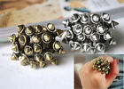 1pc Fashion Big Vintage Stud Cluster Ring 2-Color Great Quality Free Shipping