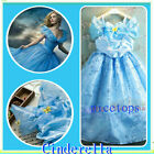 DISNEY CINDERELLA Blue Princess Costume Outfit Girls Party Dresses SIZE 3 to 8T