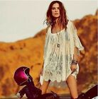 Womens Sexy Crochet Long Sleeve Swimwear Bikini Cover Up perspective Beach Dress
