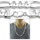 925 Sterling Silver Men's Figaro Link Chain Necklace 16mm 400
