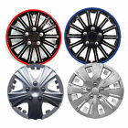 "4 x STYLISH CAR WHEEL TRIMS COVERS PLASTIC SET PACK WITH FITTINGS 13"" 14"" 15"""