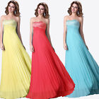 CLEARANCE Beaded Formal Long Wedding Prom Gown Bridesmaid Evening Maxi Dresses +