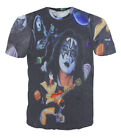 KISS Ace Frehley Collage All Over Print  Tops T-shirt # A001