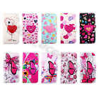 For Samsung Card Wallet Love Butterfly Pictorial PU Leather Stand Case Cover #B2