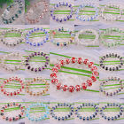 New Free Shipping Mixed Crystal Faceted Beads Stretch Bracelet 1Pcs H952-1188