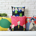 Modern Colorful Abstract Art Pillow Case Sofa Decor Cushion Cover Square Linen