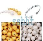 Wholesale Silver/Gold Plated Stardust Copper Ball Spacer Beads 3/4/5/6/8/10mm