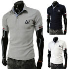 NWT Men's Short Sleeve  Sports Polo Tops Tee T-Shirts Casual Slim Fit T-Shiirts