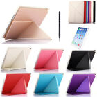 Ultra Slim Multi Fold Leather Smart Stand Folio Cover Case For iPad Air 2 @