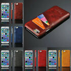 """Luxury PU Leather Hard  PC Back Case with Card Slots for iPhone 6 4.7"""" edp5"""