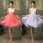 US CLEARANCE Short Bridesmaid gown Prom Evening Homecoming Cocktail Formal dress