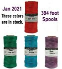 HEMP CORD 10lb 10# test 0.5mm 205 ft Spools Natural TWINE Pick from 16 COLORS
