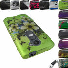 FOR LG LEON LTE POWER TRIBUTE 2 DESTINY DESIGN HARD SNAP-ON CASE COVER+STYLUS